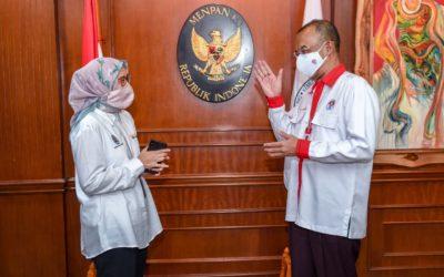 Sesmenpora Bertemu Deputi Kementerian PAN-RB Bahas Perkembangan Organisasi di Lingkungan Kemenpora