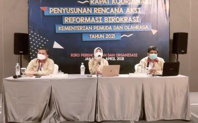 Rapat Koordinasi Penyusunan Rencana Aksi Reformasi Birokrasi Kementerian Pemuda dan Olahraga Tahun 2021